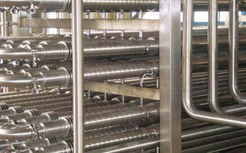 TUBULAR PASTEURIZER for high viscose products - sold by TPS Process Equipment USA