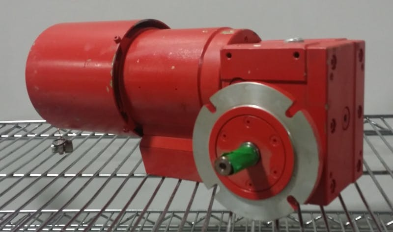 EUROMATIC EQUIPMENT TYPE PENTA 5MA B14/M71 Direct current motor with gearbox (Used) - sold by Aevos Equipment
