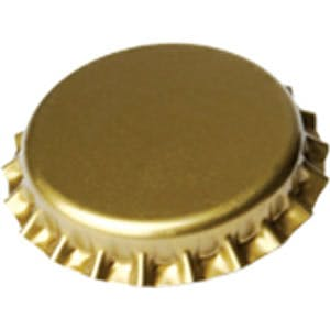 Gold / Brass Crown Cap 26mm Bottle cap sold by Glass and Growlers