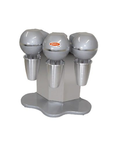 FLEETWOOD BMS-3 TRIPLE HEAD DRINK MIXER W/ THREE (3) 27-OZ. STAINLESS MIXING CUPS Milkshake machine sold by NJ Restaurant Equipment