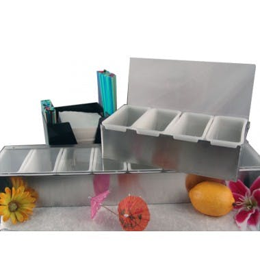 Stainless Condiment Holder Condiment holder sold by Barproducts.com