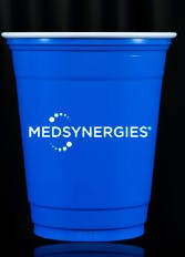 12 oz. Custom Disposable Blue Solo Plastic Cups (min. 50) - 12 oz. Custom Disposable Blue & Red Solo Plastic Cups - sold by Cup of Arms