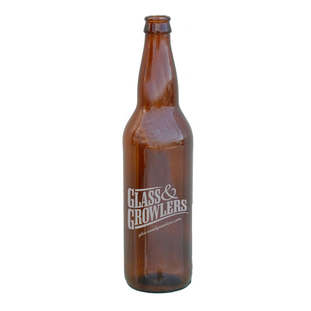 22 oz Long Neck Beer bottle sold by Glass and Growlers