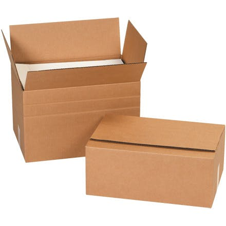 Multi-Depth Kraft Boxes Kraft packaging sold by Ameripak, Inc.