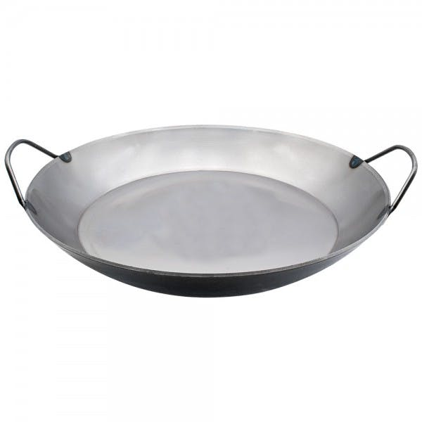 "14"" Black Steel Paella Pan"