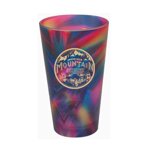 16oz. Full Color Frosted European Pilsner Glass Beer glass sold by MicrobrewMarketing.com