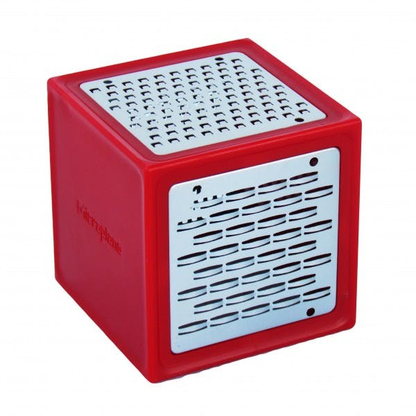 1.5 cup Red Plastic Grater Cube w/ 3 Blades