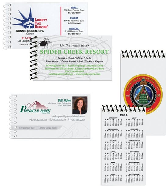 Business Card Notebooks W/ Covers Printed Custom calendar sold by Dechan, Inc. II