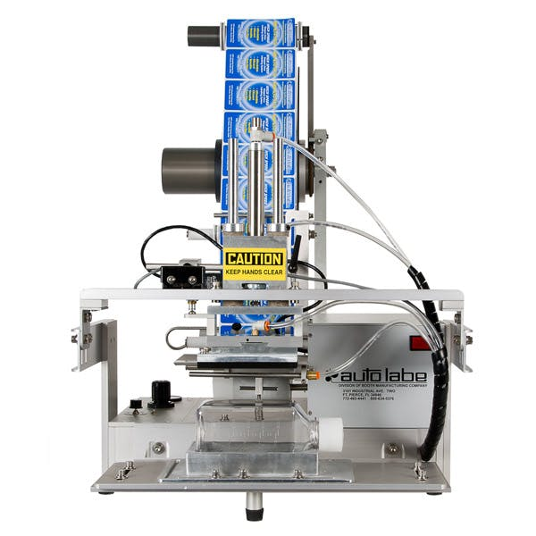 560 Semi-Automatic Tamp-Down Label Applicator Bottle labeler sold by MSM Packaging Solutions