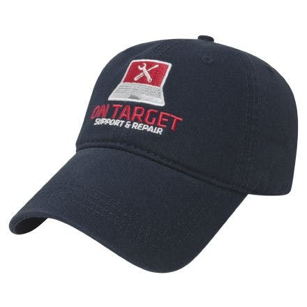 Unstructured Relaxed Golf Cap w/ Sliding Buckle Baseball cap sold by Ink Splash Promos™, LLC