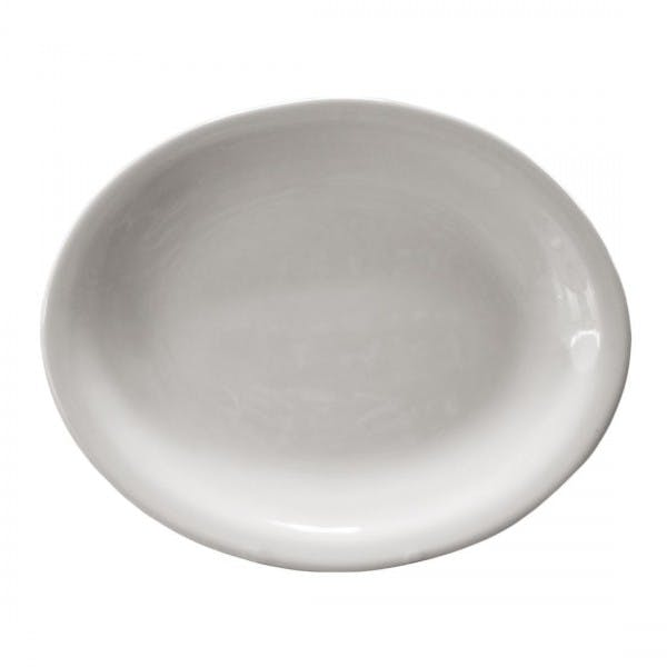 "9-1/2"" White China Narrow Rim Platter"