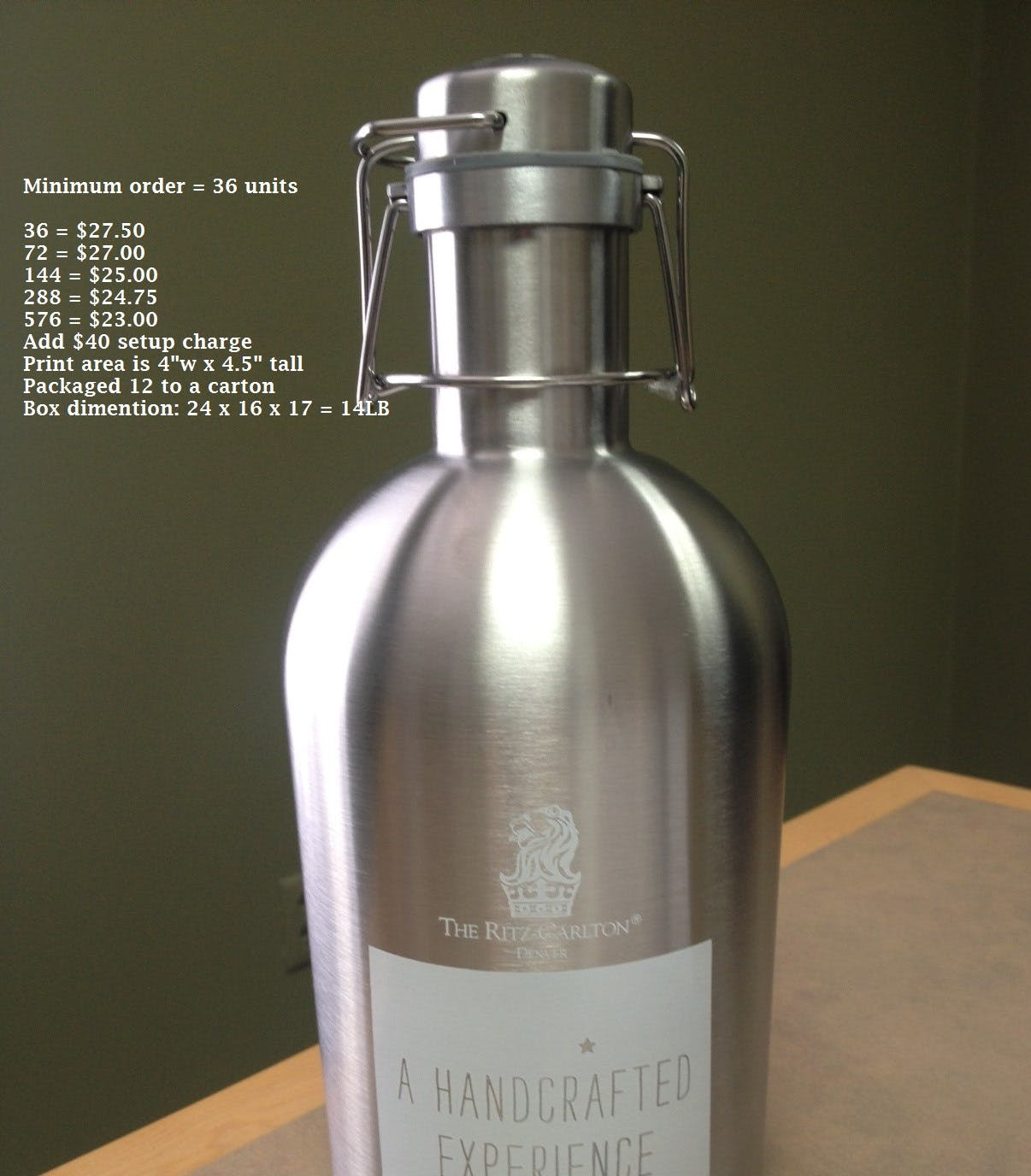 Stainless Growlers Growler sold by Professional Gifting