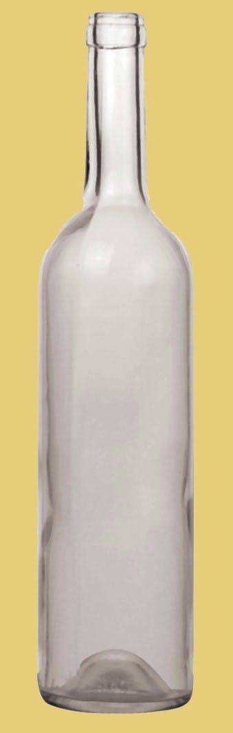 Bordeaux Style, Model #CW-027, 750 ML, Flint (Clear) Wine bottle sold by Gino Pinto INC