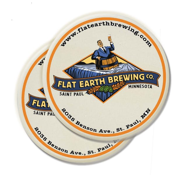 Round CoasterStone Coaster Drink coaster sold by MicrobrewMarketing.com