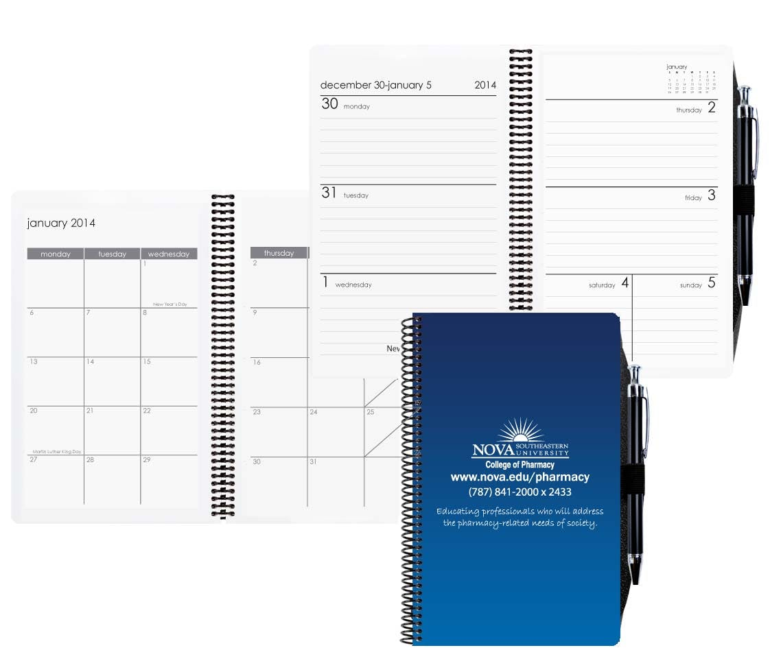 Standard Academic Weekly Planner W/ Pen Safe Back & 4 Color Process Custom calendar sold by Dechan, Inc. II