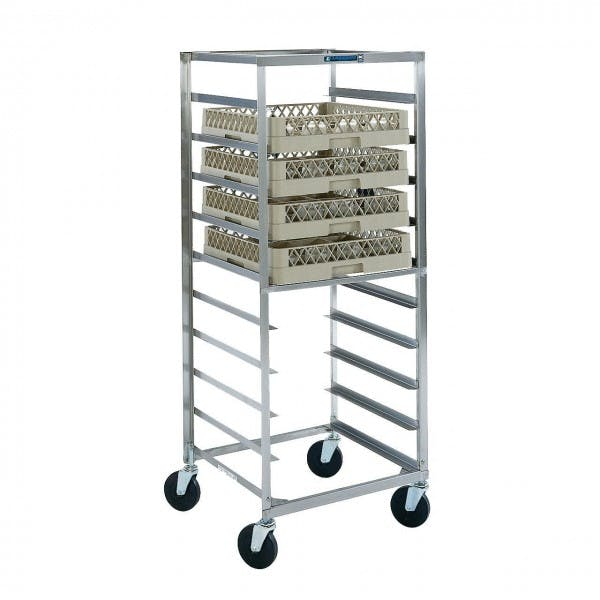 Stainless Drink Cup Rack Transport Cart