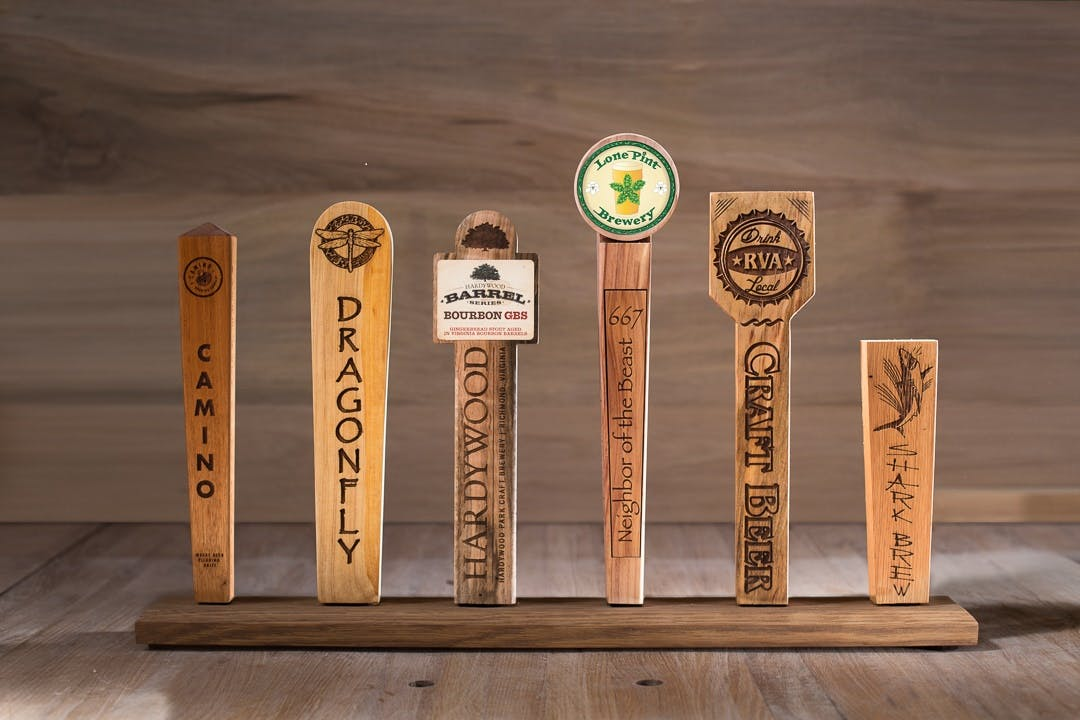 TreeCycled Tap Handles Tap handle sold by CitiWood Urban Forest Products, LLC