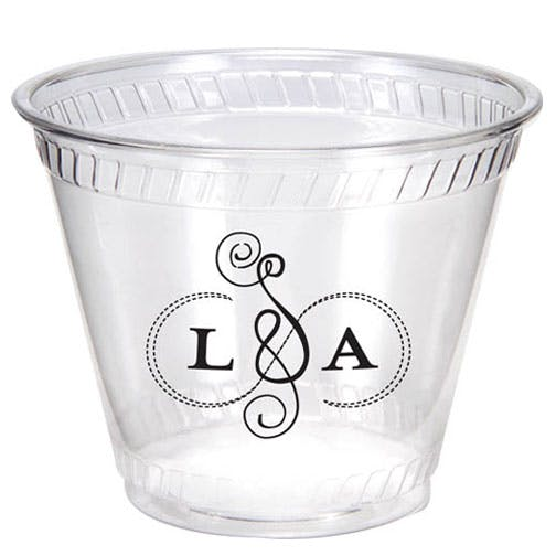 9 oz. Clear Plastic Squat Cup Plastic cup sold by MicrobrewMarketing.com