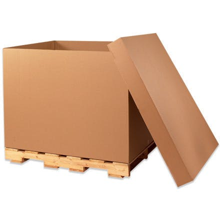 Double Wall Gaylord kraft Containers Kraft packaging sold by Ameripak, Inc.