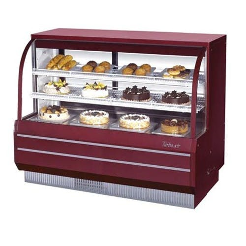 Turbo Air TCGB-60-CO Dry/Refrigerated Curved Glass Bakery Display Case, 18.4 Cu. Ft. Food display case sold by Mission Restaurant Supply