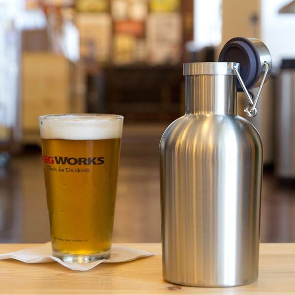 1 liter SS Growler/Growlitre Growler sold by Brewsuit.com