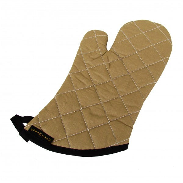 "Pair of 13"" Tan Teflon Oven Mitt"