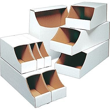 Stackable Corrugated Bins Bin sold by Ameripak, Inc.