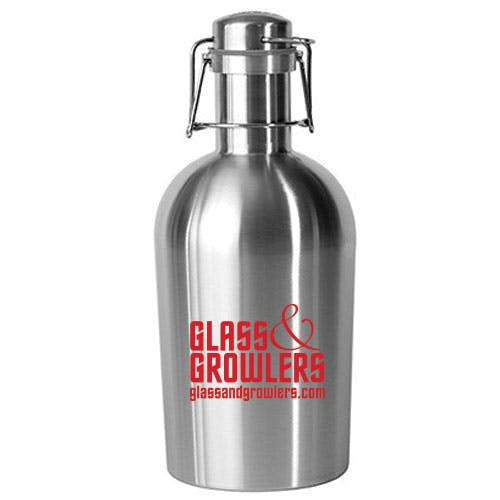 64 Oz Swing Top Stainless Steel Growler Growler sold by Glass and Growlers
