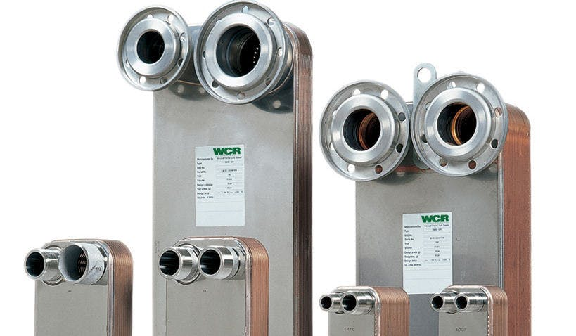 WCR Brazed / Braised Heat Exchanger Units  Heat exchanger sold by WCR Incorporated
