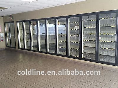 Display Doors - Walk in cooler with 8 display doors, Box size 8' x 21.5' x 8.2' SAMS-V - sold by Easy Refrigeration Company