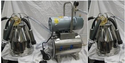 3/4 HP Mini-Milker milking machine for GOATS with TWO 4 gal Stainless bucket assemblies Milking machine sold by Simple Milking Equipment