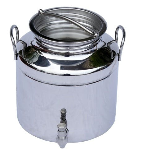 Italian Made Stainless Steel National Sanitary Foundation (NSF) Certified Fusti-5 Liters-169 Ounces Steel fusto sold by M5 Corporation