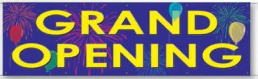 V-t Express Banner (Grand Opening) Vinyl banner sold by Dechan, Inc. II