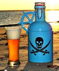 """The Jolly Roger"" Growler sold by Goose Creek Growler Co."