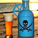 """The Jolly Roger"" - Growler sold by Goose Creek Growler Co."