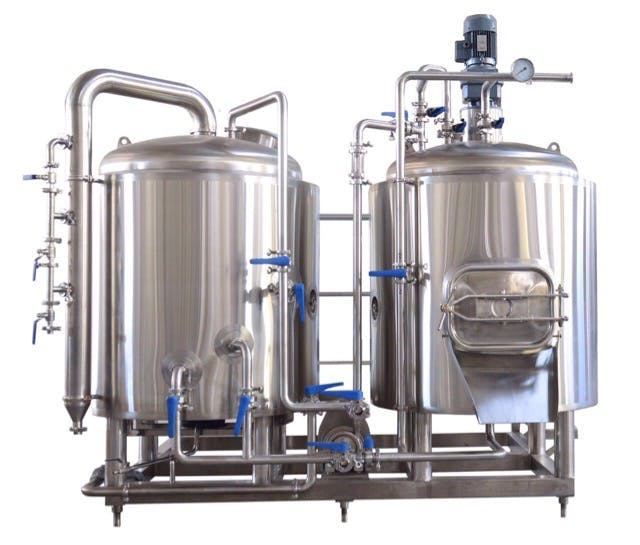 3bbl 2 vessel brewhouse steam craft kettle brewing for Craft kettle brewing equipment