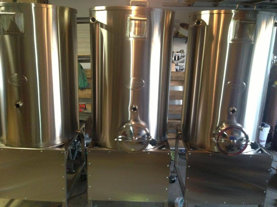 "3 BBL ""Tall Boy"" Brewhouse sold by Custom Built Brewing"