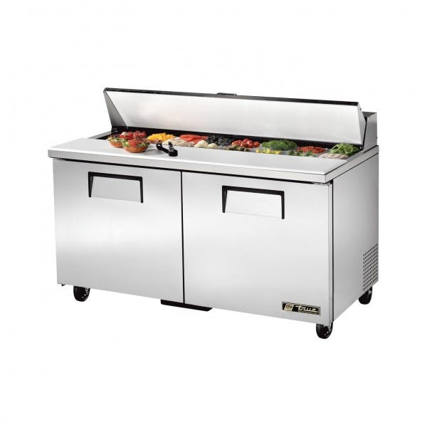 "60"" Stainless Sandwich Prep Table - TRUTSSU-60-16-HC"