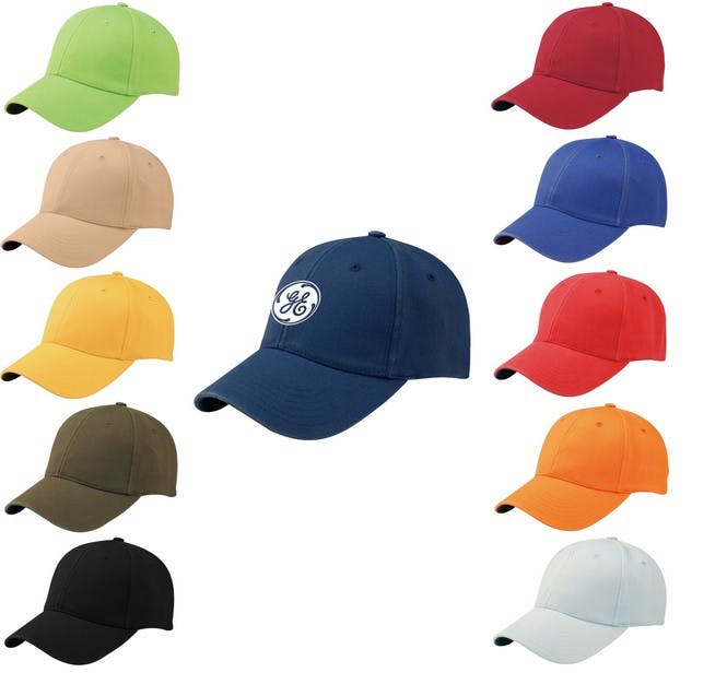 100% Cotton Twill Baseball Cap (Item # FBMQO-JVKGH) Baseball cap sold by InkEasy