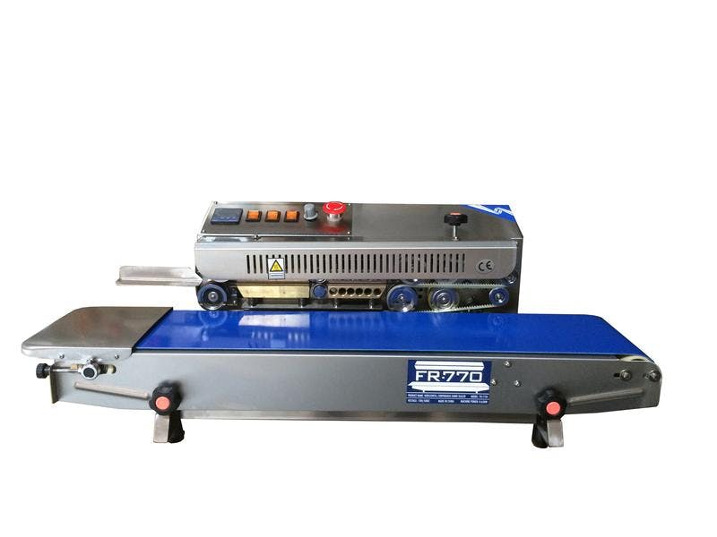 FR-770I Horizontal Stainless Steel Band Sealer Bag sealer sold by Sealer Sales