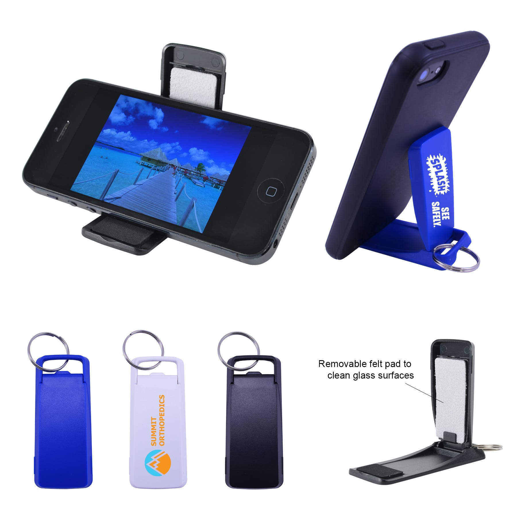 Cell Stand Key Chain (Item # SFJQL-JQATG) Promotional keychain sold by InkEasy