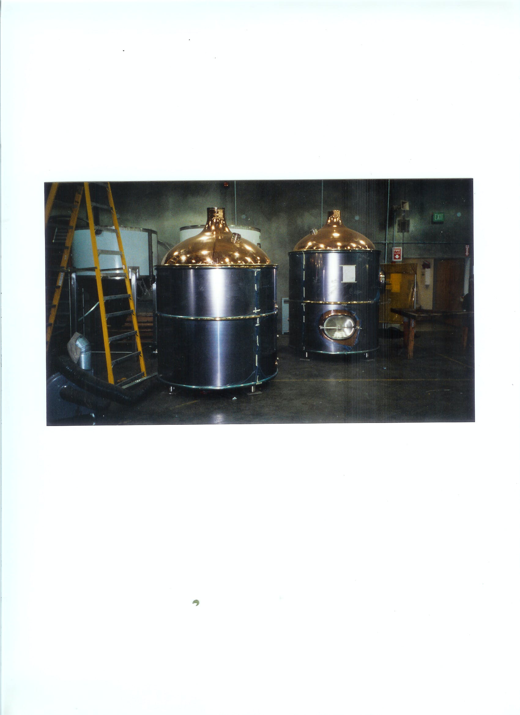 30 bbl  Brewhouse sold by Wine Country Stainless Steel Tank Co