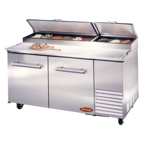 "Universal PP60SC - 60"" Pizza Prep Table Food prep table sold by Elite Restaurant Equipment"
