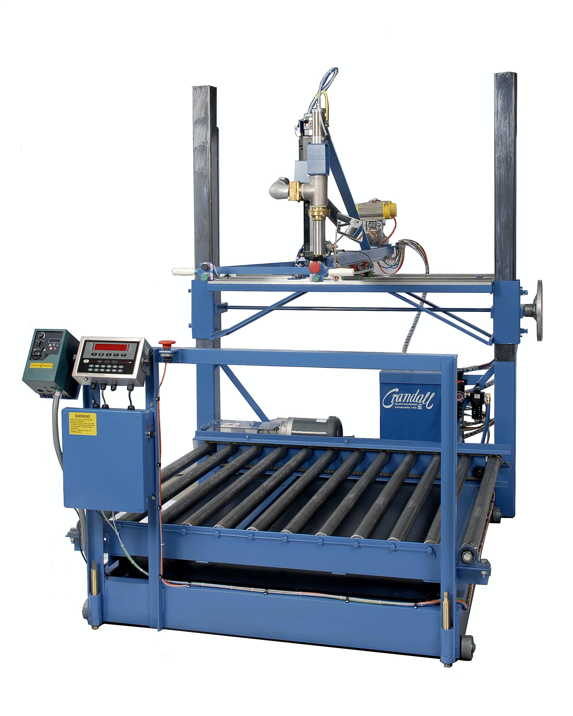 ET1/4x Drum filling machine Net weight filler sold by Crandall Filling Machinery, Inc.