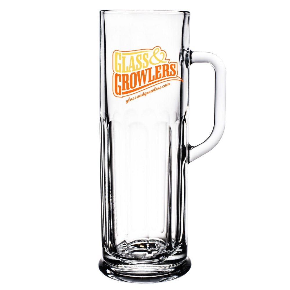 Frankfurt 21 oz Glass Customized Beer Mug sold by Glass and Growlers