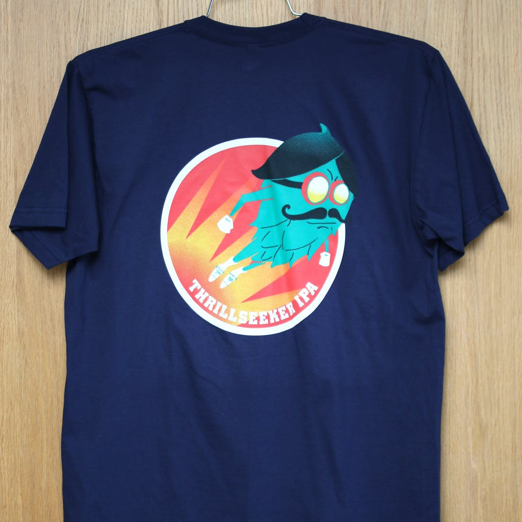 Ringspun cotton tee - Beachwood - Thrillseeker IPS Promotional shirt sold by Brewery Outfitters