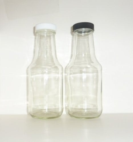 Sauce glass decanters Glass bottle sold by Cape Bottle Company, Inc.