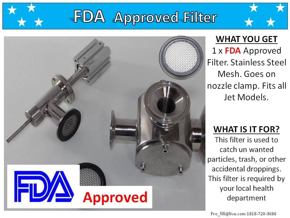 FDA Filter - PISTON FILLER JET 2x-300 A/O - sold by Pro Fill Equipment