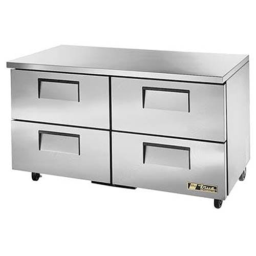 """True - TUC-60D-4 61"""" Undercounter Refrigerator w/ Drawers Commercial refrigerator sold by Food Service Warehouse"""