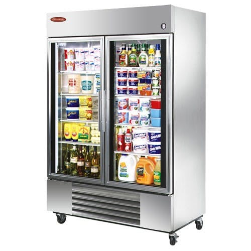 "Universal SW39SC - 39"" Glass Door Reach In Refrigerator Commercial refrigerator sold by Elite Restaurant Equipment"